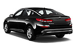 Car pictures of rear three quarter view of 2020 KIA Optima LX 4 Door Sedan Angular Rear