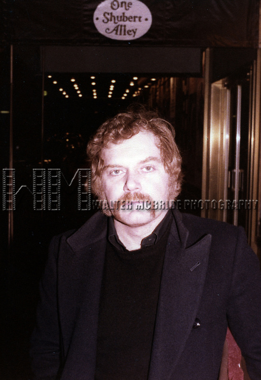 """Kevin Conway in Shubert Alley after a performance in """"The Elephant Man"""" at the Booth Theatre on April 9, 1979 in New York City."""