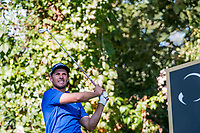 Andrea Pavan (ITA) in action on the 2nd hole during the second round of the 76 Open D'Italia, Olgiata Golf Club, Rome, Rome, Italy. 11/10/19.<br /> Picture Stefano Di Maria / Golffile.ie<br /> <br /> All photo usage must carry mandatory copyright credit (© Golffile | Stefano Di Maria)