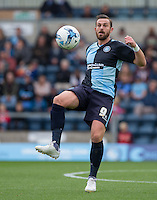 Paul Hayes of Wycombe Wanderers controls the ball during the Sky Bet League 2 match between Wycombe Wanderers and Hartlepool United at Adams Park, High Wycombe, England on 5 September 2015. Photo by Andy Rowland.