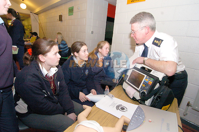 Students from Greenhills and St Olivers talking to members of the NEHB Ambulance service at the carears night in St Josephs CBS..Photo Fran Caffrey Newsfile.ie..This Picture has been sent to you by Newsfile Ltd..The Studio,.Millmount Abbey,.Drogheda,.Co. Meath,.Ireland..Tel: +353(0)41-9871240.Fax: +353(0)41-9871260.ISDN: +353(0)41-9871010.www.newsfile.ie..general email: pictures@newsfile.ie