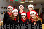 Students from Castlegregory secondary school, Meán Scoil Nua An Leith Triúigh, who volunteered to help the many elderly people who attended the Christmas party in the Halla Le Cheile Breanainn last Tuesday, front L-R Una Fitzpatrick, maria Nix&Ciara O'Connor, back L-R Jack Walsh, Eoghan Ó Laighin&Shane Deane.