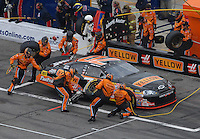 Feb 15, 2007; Daytona, FL, USA; Nascar Nextel Cup Series driver Johnny Sauter (70) pits during race one of the Gatorade Duel at Daytona International Speedway. Mandatory Credit: Mark J. Rebilas