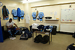 St Albans 0 Watford 5, 26/07/2014. Clarence Park, Pre Season Friendly. The St Albans City changing room before the Pre Season friendly between St Albans City and Watford from Clarence Park Stadium. Watford won the game 5-0. Photo by Simon Gill.
