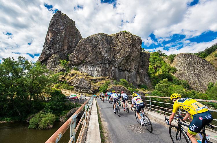 Picture by Alex Whitehead/SWpix.com - 16/07/2017 - Cycling - Le Tour de France - Stage 15, Laissac-Severac L'Eglise to Le Puy-En-Velay - Team Sky's Chris Froome in action through Les Orgues de Prades.