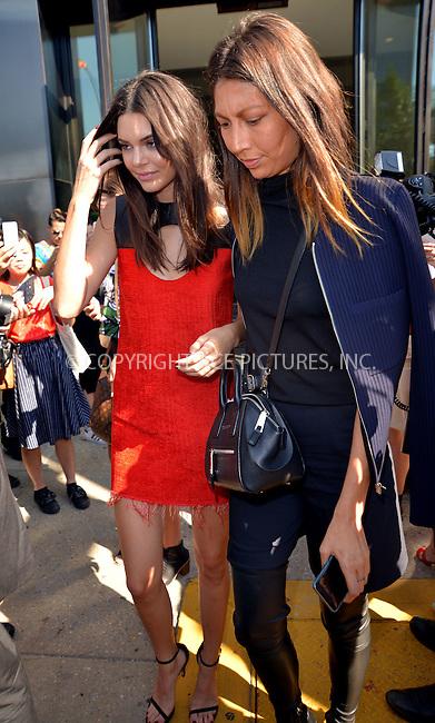 WWW.ACEPIXS.COM<br /> <br /> September 17 2015, New York City<br /> <br /> Kendall Jenner (L) leaving the Calvin klein show at NYFW on September 17 2015 in New York City<br /> <br /> By Line: Curtis Means/ACE Pictures<br /> <br /> <br /> ACE Pictures, Inc.<br /> tel: 646 769 0430<br /> Email: info@acepixs.com<br /> www.acepixs.com