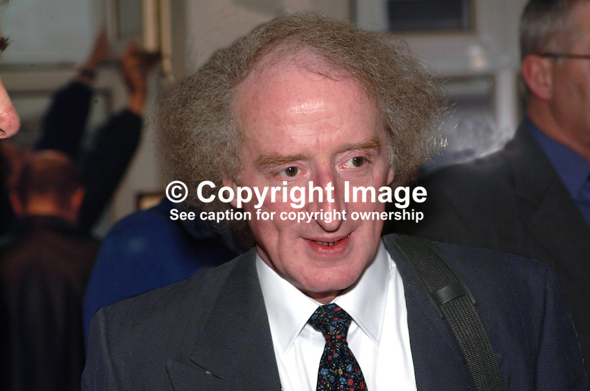 Bobbie Hanvey, photographer, journalist, broadcaster, author, musician, N Ireland, UK, 200204055024..Copyright Image from Victor Patterson, 54 Dorchester Park, Belfast, UK, BT9 6RJ..Tel: +44 28 9066 1296.Mob: +44 7802 353836.Voicemail +44 20 8816 7153.Skype: victorpattersonbelfast.Email: victorpatterson@mac.com.Email: victorpatterson@ireland.com (back-up)..IMPORTANT: If you wish to use this image or any other of my images please go to www.victorpatterson.com and click on the Terms & Conditions. Then contact me by email or phone with the reference number(s) of the image(s) concerned.