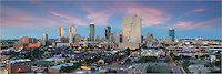 From one of the balconies of the Trinity Terrace, this skyline image is a panorama of Fort Worth, otherwise known as Cow Town USA. But don't be deceived by the nickname. Ft. Worth is a thriving city with a vibrant cultural and arts district, highlighed by Bass Hall.