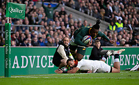 South Africa's Sibusiso Nkosi in action during todays match<br /> <br /> Photographer Bob Bradford/CameraSport<br /> <br /> Quilter Internationals - England v South Africa - Saturday 3rd November 2018 - Twickenham Stadium - London<br /> <br /> World Copyright © 2018 CameraSport. All rights reserved. 43 Linden Ave. Countesthorpe. Leicester. England. LE8 5PG - Tel: +44 (0) 116 277 4147 - admin@camerasport.com - www.camerasport.com