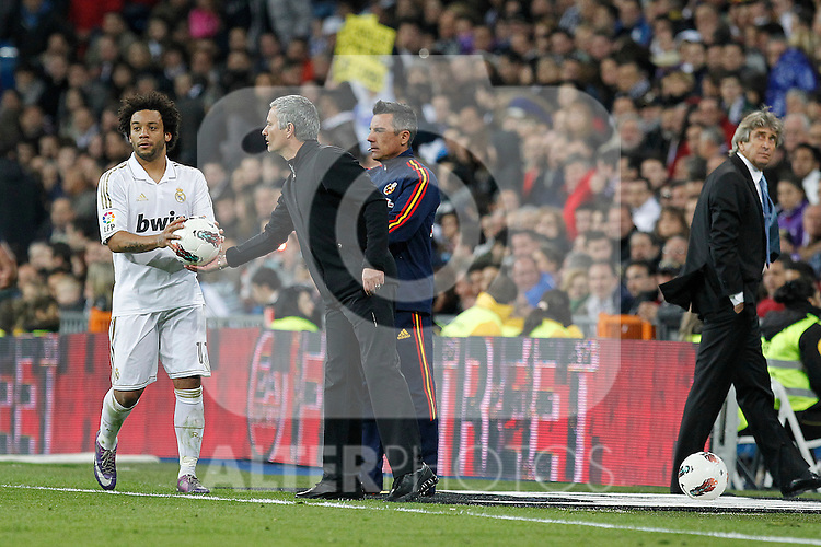 Real Madrid's Jose Mourinho during la Liga match on march 18th 2012...Photo: Alex Cid-Fuentes / ALFAQUI