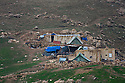 Iraq 2015 Yezidi families living in tents near their houses looted by Daesh  <br />