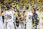 24 MAR 2012:  Western Washington University celebrates their victory over the University of Montevallo during the Division II Men's Basketball Championship held at the Bank of Kentucky Center in Highland Heights, KY. Western Washington won the title 72-65.  Joe Robbins/NCAA Photos