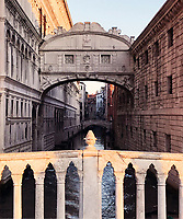 One of Venice's most photographed sights, the Bridge of Sighs connects Palazzo Ducale to the 16th-century Priggione Nove (New Prisons). Its improbable ... Venice 25 gennaio 2019. © Leonardo Cendamo