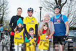 l-r  Siobhan Cusson, Jocelyn Cusson, Ethan Cusson, Isabel Cusson, John Joe O'Connor, Joan O'Connor and Mark Cusson at the Fenit Lifeboat charity fun cycle from O'Donnells, Mounthawk on Saturday