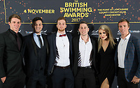 Picture by Allan McKenzie/SWpix.com - 04/11/17 - Swimming - British Swimming Awards 2017 - The Poiint, Lancashire County Cricket Ground, Manchester, England - Red carpet, guests, Ben Proud, James Guy.