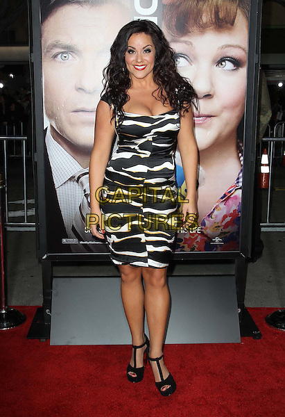 "Katy Mixon.The World Premiere of ""Identity Thief"" held at The Mann VillageTheater in Westwood, California, USA..February 4th, 2013.full length dress black white zebra animal print cleavage .CAP/ADM/KB.©Kevan Brooks/AdMedia/Capital Pictures."