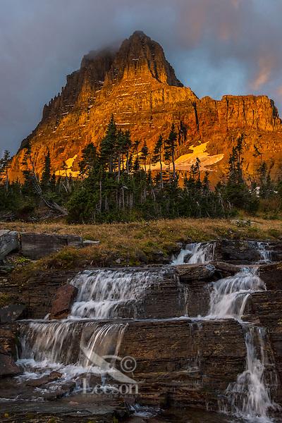 Mount Clements at sunrise near Logan Pass, Glacier National Park, Montana.  Fall.