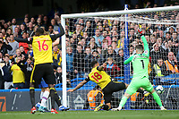 Andre Gray of Watford had a goal disallowed in the second half during Chelsea vs Watford, Premier League Football at Stamford Bridge on 5th May 2019