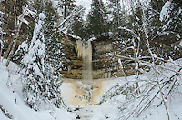 Early winter at Munising Falls. Munising, MI