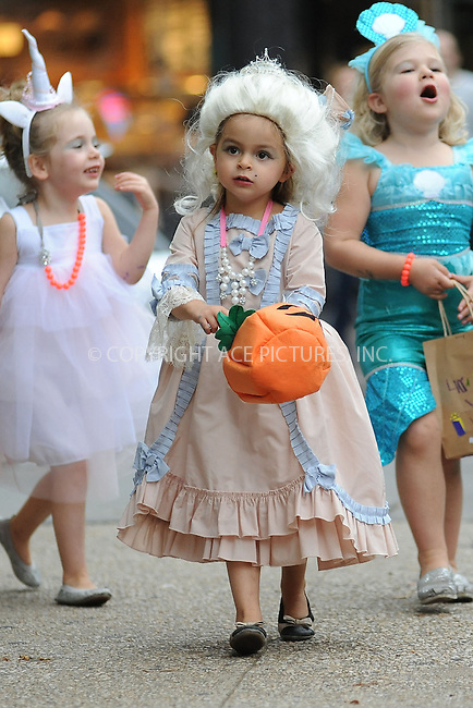 WWW.ACEPIXS.COM<br /> October 31, 2013 New York City<br /> <br /> The Broderick Twins go Trick or Treating in the West Village on October 31 2013 in New York City.<br /> <br /> By Line: Kristin Callahan/ACE Pictures<br /> <br /> ACE Pictures, Inc.<br /> tel: 646 769 0430  or 212 243 8787<br /> Email: info@acepixs.com<br /> www.acepixs.com<br /> <br /> Copyright: Kristin Callahan/ACE Pictures