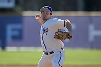 High Point Panthers relief pitcher Carson Jackson (10) in action in the top of the 9th inning against the NJIT Highlanders at Williard Stadium on February 19, 2017 in High Point, North Carolina.  The Panthers defeated the Highlanders 6-5.  (Brian Westerholt/Four Seam Images)