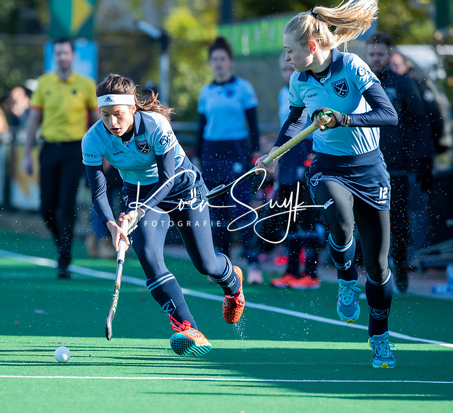 Laren - Bente van der Veldt (laren)  en Josien Galama (Lar)   tijdens de Livera hoofdklasse  hockeywedstrijd dames, Laren-Oranje Rood (1-3).  COPYRIGHT KOEN SUYK