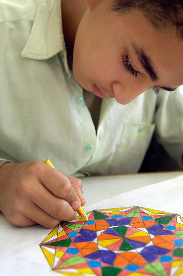 Egypte, Belbeis, 6 mei 2007..Sekem.    School..Foto (c) Michiel Wijnbergh.