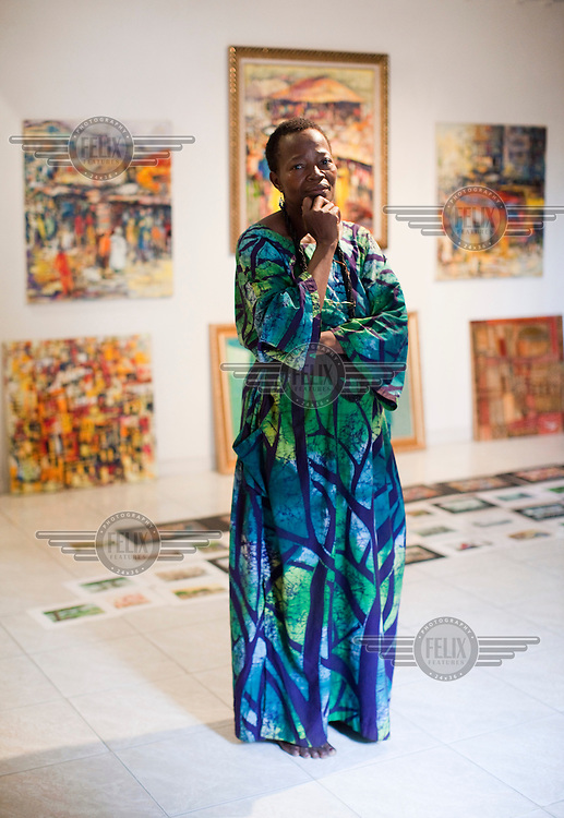 Nike Art Center gallery owner Nike Okundayo at the art gallery in the new Lekki section of the city.