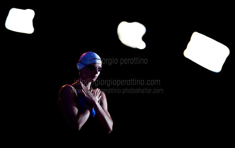 Britta Steffen GER<br /> Women's 100m freestyle final<br /> 15th FINA World Aquatics Championships<br /> Palau Sant Jordi, Barcelona (Spain) 02/08/2013 <br /> © Giorgio Perottino