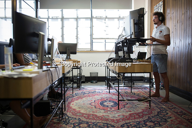 CAPE TOWN, SOUTH AFRICA NOVEMBER 21: Techies work in a shared office space called &quot;Ideas Cartel', where entrepreneurs and small businesses rent office space on November 21, 2016 in Central Cape Town, South Africa.<br /> (Photo by: Per-Anders Pettersson)