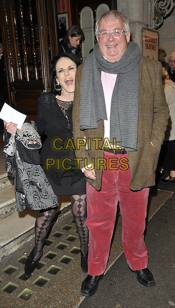 LONDON, ENGLAND - FEBRUARY 25: Lesley Joseph &amp; Christopher Biggins attend the &quot;The Full Monty&quot; press night, Noel Coward Theatre, St Martin's Lane, on Tuesday February 25, 2014 in London, England, UK.<br /> CAP/CAN<br /> &copy;Can Nguyen/Capital Pictures