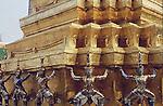"KHONS SURROUND BASE OF STUPA IN BANGKOK""S GRAND PALACE"