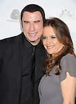 LOS ANGELES, CA - JANUARY 12: John Travolta and Kelly Preston attend the 2013 G'Day USA Black Tie Gala at JW Marriott Los Angeles at L.A. LIVE on January 12, 2013 in Los Angeles, California.