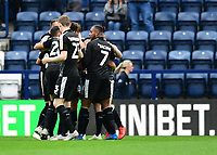 Reading's Leandro Bacuna, right, celebrates scoring his side's third goal with team-mates<br /> <br /> Photographer Chris Vaughan/CameraSport<br /> <br /> The EFL Sky Bet Championship - Preston North End v Reading - Saturday 15th September 2018 - Deepdale - Preston<br /> <br /> World Copyright &copy; 2018 CameraSport. All rights reserved. 43 Linden Ave. Countesthorpe. Leicester. England. LE8 5PG - Tel: +44 (0) 116 277 4147 - admin@camerasport.com - www.camerasport.com