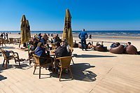 Open terrace of cafe on Jurmala beach, Latvia