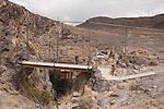 Entrance to Devils Hole, habitat of Devils Hole pupfish, Cyprinodon diabolis.  Ash Meadows National Wildlife Refuge, Nevada