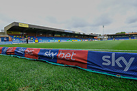 General view of the main stand ahead of AFC Wimbledon vs Rochdale, Sky Bet EFL League 1 Football at the Cherry Red Records Stadium on 5th October 2019