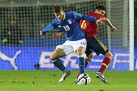 "Samuele Longo e Oriol.Siena 13/11/2012 Stadio ""Franchi"".Football Calcio Nazionale U21.Italia v Spagna.Foto Insidefoto Paolo Nucci."