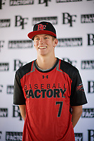 Charles Summers (7) of Providence Academy in Bentonville, Arkansas during the Baseball Factory All-America Pre-Season Tournament, powered by Under Armour, on January 12, 2018 at Sloan Park Complex in Mesa, Arizona.  (Zachary Lucy/Four Seam Images)