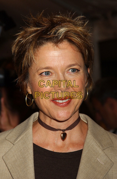 "ANNETTE BENING.2005 Toronto Film Festival - ""Mrs. Harris"" Premiere held at Roy Thompson Hall, Toronto, Ontario..September 16th, 2005 .Photo Credit: Laura Farr/AdMedia/Capital Pictures.Ref: LF/ADM/CAP.headshot portrait choker hoop earrings.www.capitalpictures.com.sales@capitalpictures.com.© Capital Pictures."