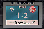 05.10.2019, Benteler Arena, Paderborn, GER, 1.FBL, SC Paderborn 07 vs 1. FSV Mainz 05<br /> <br /> DFL REGULATIONS PROHIBIT ANY USE OF PHOTOGRAPHS AS IMAGE SEQUENCES AND/OR QUASI-VIDEO.<br /> <br /> im Bild / picture shows<br /> Anzeigetafel / Endstand, Feature, <br /> <br /> Foto © nordphoto / Ewert
