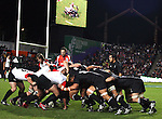A scrum during the Iveco rugby union international test match between the All Blacks and Canada at Waikato Stadium, Hamilton, New Zealand on Saturday 16 June 2007. The All Blacks won the match 64 - 13.