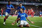 23.08.2018 Rangers v Ufa: Connor Goldson celebrates