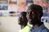 Abel Kirui, left and Wilson Kispang, right, two of Kenya's fastest marathon runners. Iten, Kenya.
