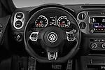 Car pictures of steering wheel view of a 2016 Volkswagen Tiguan 2.0T-R-Line 5 Door SUV Steering Wheel