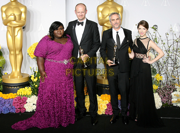 02 March 2014 - Hollywood, California - Gabourey Sidibe, Mark Sanger, Alfonso Cuaron, Anna Kendrick. 86th Annual Academy Awards held at the Dolby Theatre at Hollywood &amp; Highland Center. <br /> CAP/ADM<br /> &copy;AdMedia/Capital Pictures