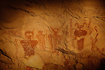 Intricate Barrier Style pictographs located in Sego Canyon, Utah