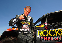 Apr 15, 2011; Surprise, AZ USA; LOORRS driver Brian Deegan (38) during round 3 and 4 at Speedworld Off Road Park. Mandatory Credit: Mark J. Rebilas-.