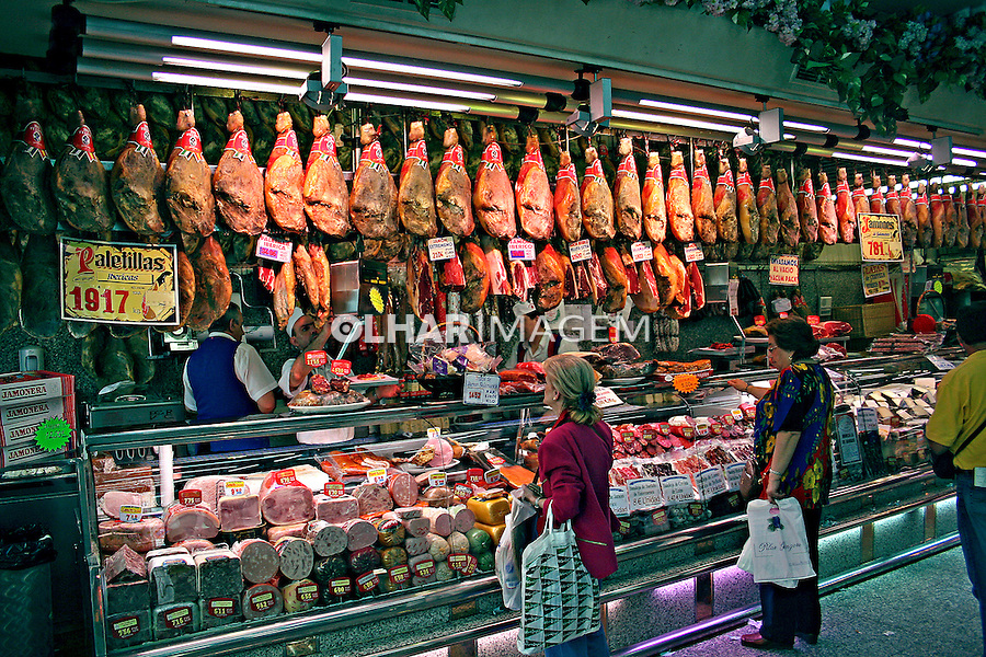Loja de frios em Madri. Espanha. 2007. Foto de Marcio Nel Cimatti.