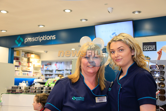Michelle Murtagh and Hannah Quinn at Bradleys Pharmacy opening.<br /> Picture www.newsfile.ie